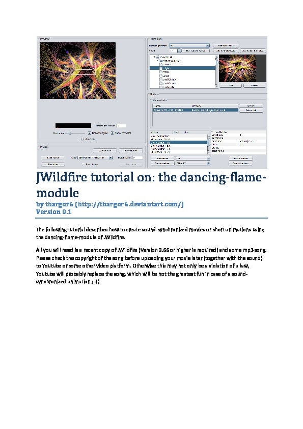 Animating JWildfire flames with Dancing Tutorial