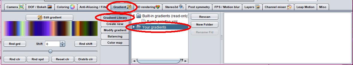 click gradient then your gradients
