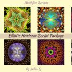 Elliptic Heirloom Script Package Display