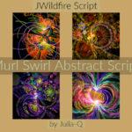 Murl Swirl Abstract Script Display Image