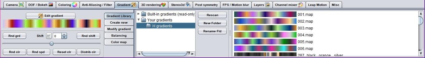 open your gradient