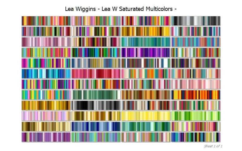 Lea Wiggins Saturated Multicolour Collection Image