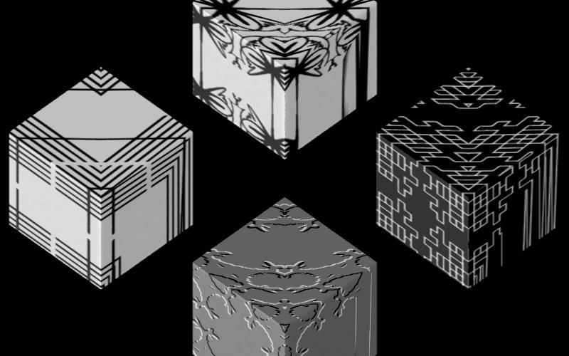 Texture Set # 1_ Lsystem Black on white Image