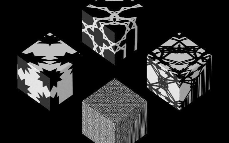 Texture Set #4_ Tree_js Supershape3d... Black on White Image