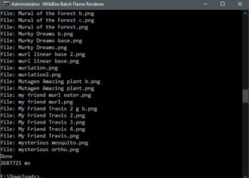 JWildfire Command Line Batch Renderer